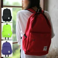 Plain Colour NYLON BACKPACK RUCKSACK BAG School University Work Gym Cycling 769