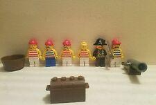 Lego Vintage Pirates Minifigures Lot Peg-Leg Cannon Accessories