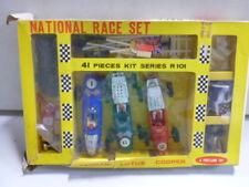 Portland Toy National Race Set Ferrari, Lotus, Cooper w original box