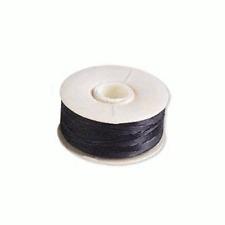 2 Bobbins NYMO Thread (90 Yards each) BLACK Size 0