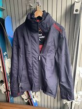 SUPERDRY Jacket Coat Blue Red Upgrade Wind cheater Lined ZIP Up Long Sleeve M L