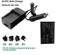 Battery + Charger for NP-120 ORDRO AC3 AC5 Video Camera Camcorder DV Recorder