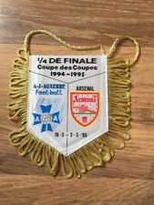 Official Auxerre Mini Pennant: V Arsenal 1994/5 ECWC Quarter Final