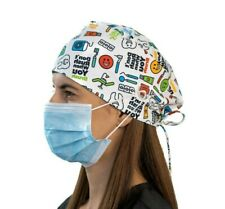 Dental scrub cap with buttons
