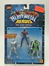 Marvel Heavy Metal Heroes Figures Die Cast Spiderman Silver Surfer Doctor Doom