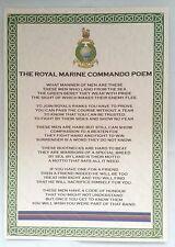 RM Royal Marines Commando Poem Special Forces Royal Navy Military Company