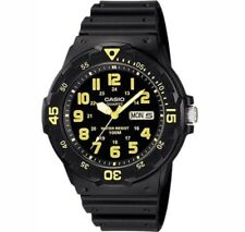 Casio Gents Black Collection 100 Meters MRW-200H-9BVDF Watch. Yellow