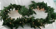 """Christmas Garland with Clear Lights Lighted 9 ft. x 12""""  Pre-Lit NEW Retail $44."""