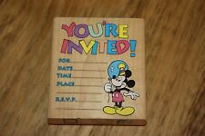 MICKEY MOUSE YOU'RE INVITED RUBBER STAMP BY STAMPEDE~ DISNEY INVITATION TEMPLATE