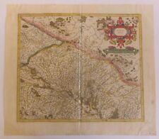 Gravure Alsace Inférieure Alsatia Inferior G. Mercator Hondius II XVIIè S.