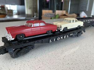 LIONEL 6424 FLAT CAR WITH AUTO LOAD 2 CARS Model Train Railroad RR.  Vintage