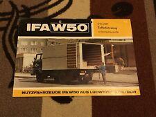 IFA W 50 Kofferfahrzeug mit Stahlleichtbaukoffer Ludwigsfelde DDR Prospekt 1973