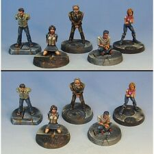 Armorcast 28mm Pewter TAC004 5 Person Hostage Set - New Modern Mobocracy Minis