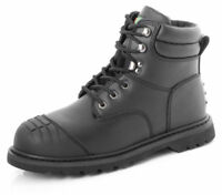 Heavy Duty Goodyear Welted Sole Scuff Cap Work Safety Boots Steel Toe Mechanics