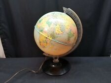 "Rand McNally 12"" World Lighted Physical Political Globe on Stand"