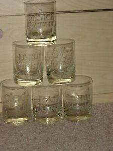 Estate Sale Find Vintage Cocktail Glasses Merry Christmas Different Languages
