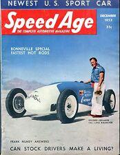 Speed Age Magazine December 1953 Frank Mundy EX No ML 052117nonjhe