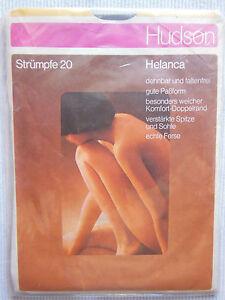 Hudson Garter Belt Stockings - Long Nylons Helcana 20 Vintage Size 10,5 -11 B