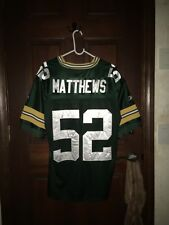 Mens Reebok Size 48 CLAY MATTHEWS Green Bay Packers NFL Football Jersey ~ Sewn
