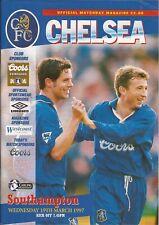Football Programme - Chelsea v Southampton - Premiership - 19/3/1997