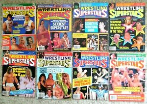Vintage Wrestling Magazines Lot of 11 Wrestling Superstar &Sports Review Series