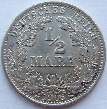 TOP! 1/2 Mark 1906 G in VORZÜGLICH / STEMPELGLANZ !!!