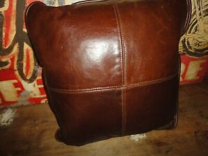WESTERN LEATHER BROWN TEXTURED TWEED (1PC) SQUARE THROW PILLOW 16 X 16