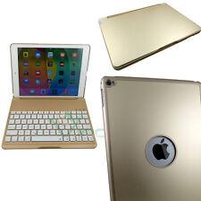 Custodia Tastiera bluetooth illuminata per iPad Air 2 stand ORO alluminio TP5