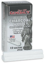 General's - Compressed Charcoal Sticks - Box of 12 - WHITE