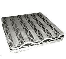 mq04t Silver Black Ash Grey Wave Stripe Shimmer Velvet 3D Box Seat Cushion Cover