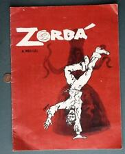 1970 Zorba the Musical Program-Vivian Blaine-Michael Kermoyan US Tour Production