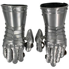 Medieval Templar  Knight Gauntlets Functional Armor Polished Steel 20g Gloves