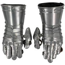 Medieval Templar  Knight Gauntlets Functional Armor Polished Steel 20g Gloves