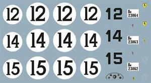 1/32 decals ONLY- FERRARI 375 MM- LE MANS 53