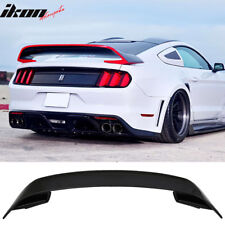 Fits 15-19 Ford Mustang GT350 Style V2 Rear Black Trunk ABS Spoiler Wing