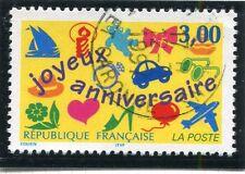TIMBRE FRANCE OBLITERE N° 3046 JOYEUX ANNIVERSAIRES / Photo non contractuelle