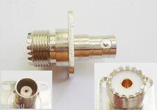 UHF Female Jack SO239 4 Holes Flange to BNC Female Jack RF Connector Adapter New