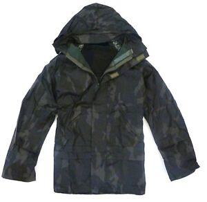 100% WATERPROOF WINDPROOF JACKET Mens S-XXL zip up hooded kagool woodland Camo