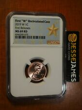 2019 W LINCOLN CENT NGC MS69 RD FIRST RELEASES GOLD STAR LABEL 1C PENNY