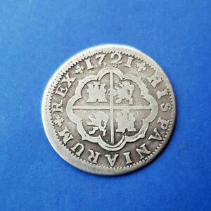 Espagne - 2 Réales 1721 - Philippe V - Argent - Petit Etat