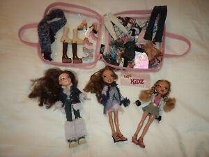 Beautiful Job Lot Bundle 3 Bratz Dolls with Boots Shoes Clothes & Accessories
