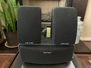 3 POLK AUDIO RM Series II Shielded Satellite RMSS Speakers Tested
