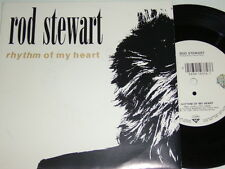 "7"" - Rod Stewart Rhythm of my Heart & Moment of Glory - MINT 1991 # 5497"