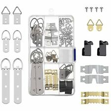 68 Pieces Photo Frame Hanging Hooks Kit Picture Free Ship