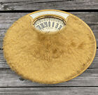 VINTAGE Counselor Fuzzy Yellow Retro Antique Weight Scale