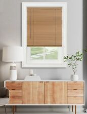 "Achim GII Morningstar Cordless Light Filtering 1"" Vinyl Mini Blind - Wood Tone"