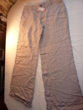 WHITE STUFF SIZE 12 RIVIERA TROUSERS BRO-LT MINK LINEN WIDE LEG BNWT RRP £49.95