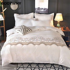2020 New Luxury Lace White Bedding Quilt Pillowcase Extra Large Top Hot