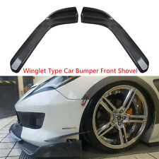 2 x Winglet Type Style Car Front Bumper Lip Anti Scratch Diffuser Splitters Kit