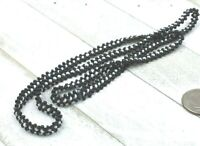Vintage Style Necklace Southwestern Glass Seed Bead Woven White & Black